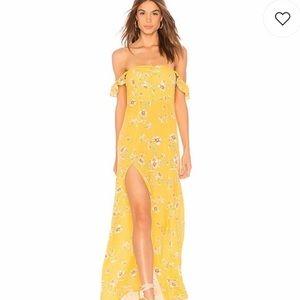 Flynn Skye Bardot Dress Yellow